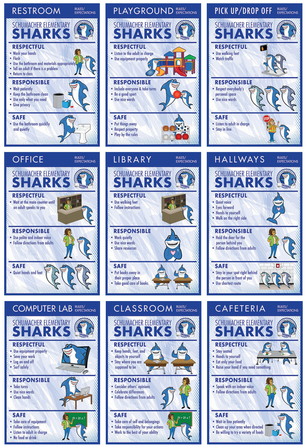 PBIS Rules Posters Shark