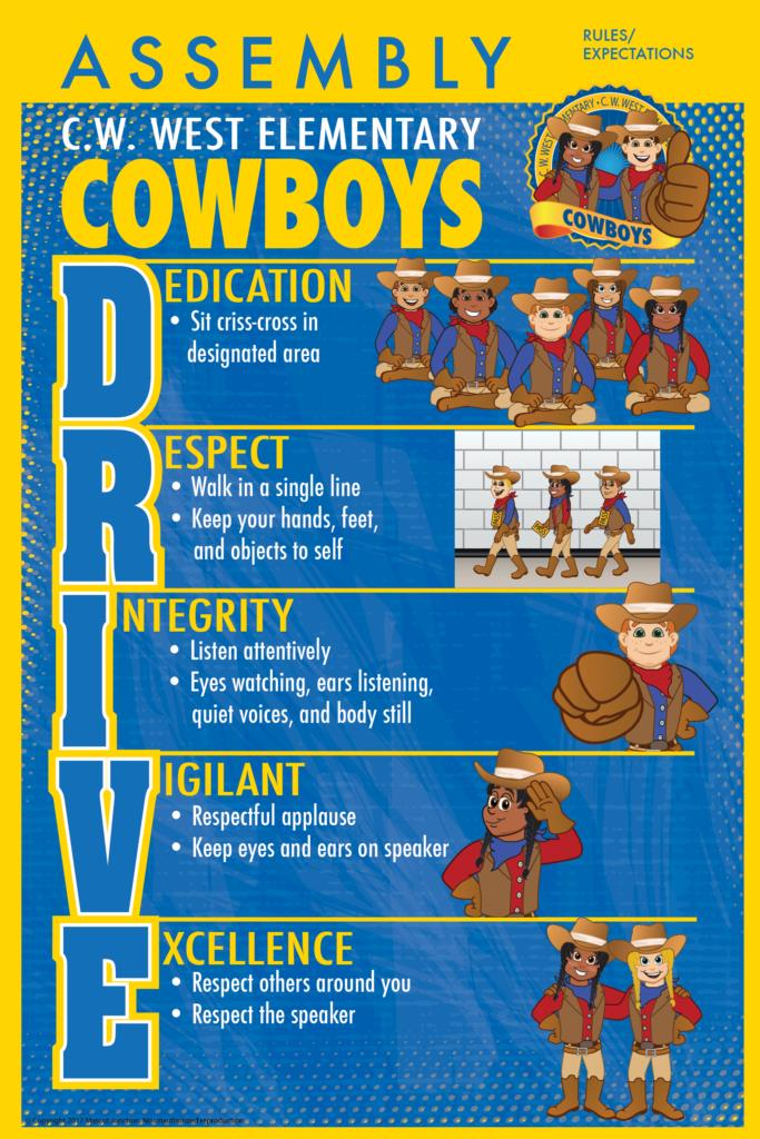 Rules Poster Cowboy