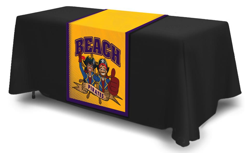 Table Cloth Runner Pirate Mascot
