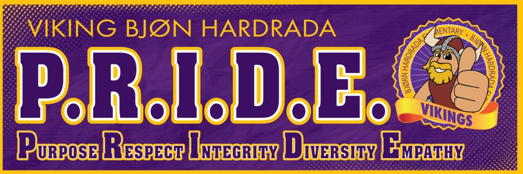 PRIDE banner PBIS school viking