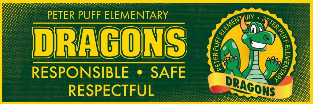 PBIS Theme Banner Dragon Mascot