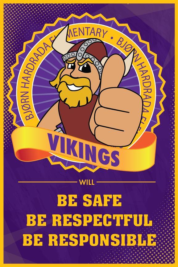 PBIS Theme Poster Viking Mascot