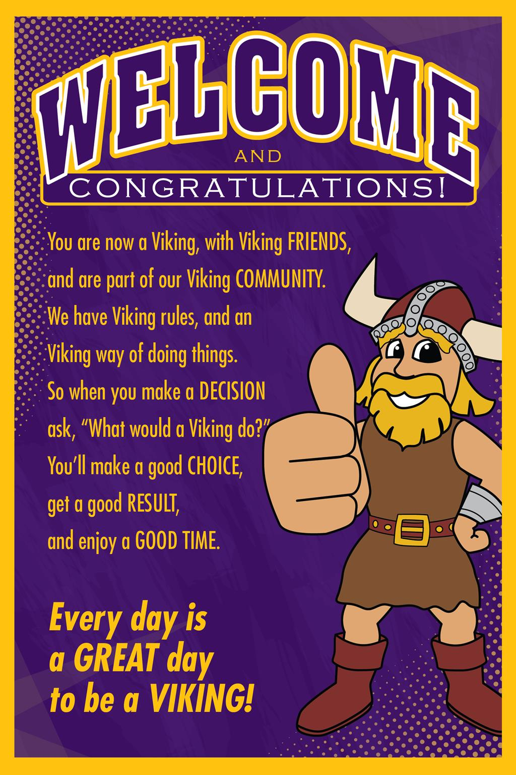 Viking Welcome Poster School