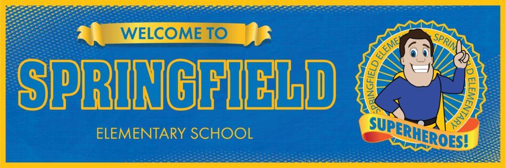 Super Hero Banner School Welcome
