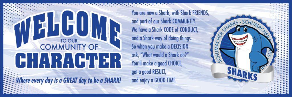 PBIS Banner Printing Shark Mascot