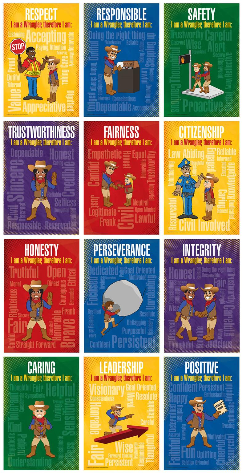 Character Trait School Posters