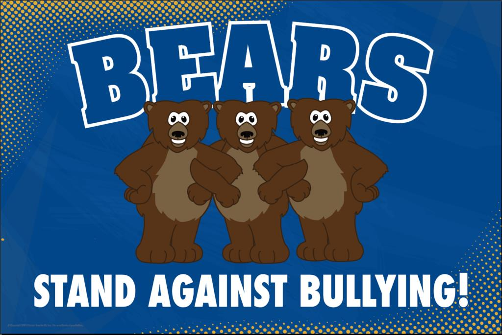 Anti Bullying Poster Bears (Grizzly)