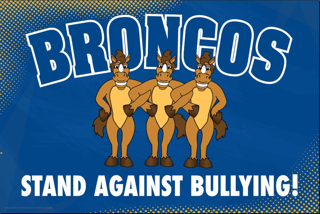 Anti Bullying Poster Broncos