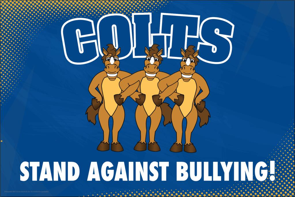 Anti Bullying Poster Colts