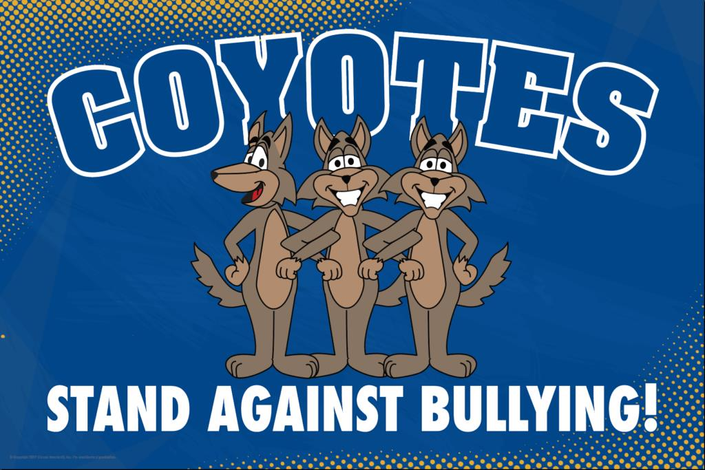 Anti Bullying Poster Coyotes
