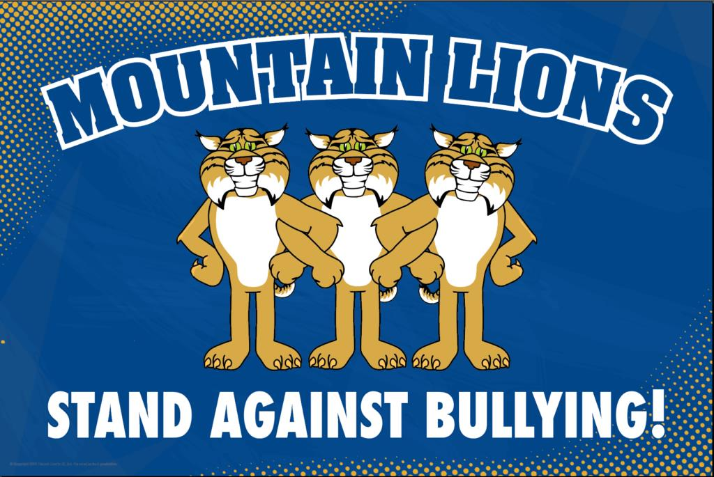 Anti Bullying Poster Mountain Lions