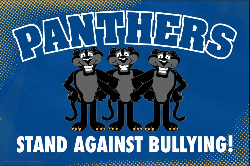 Anti Bullying Poster Panthers (Black)