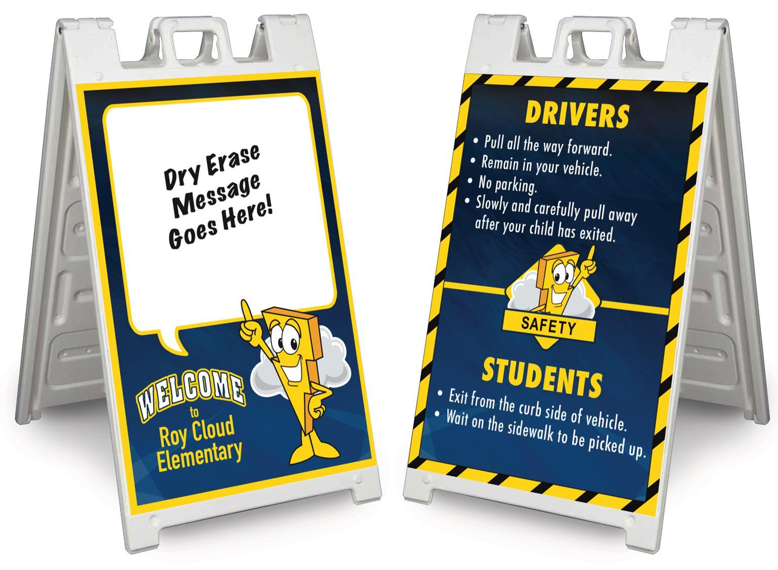 A-Frame Sidewalk Sign School Safety