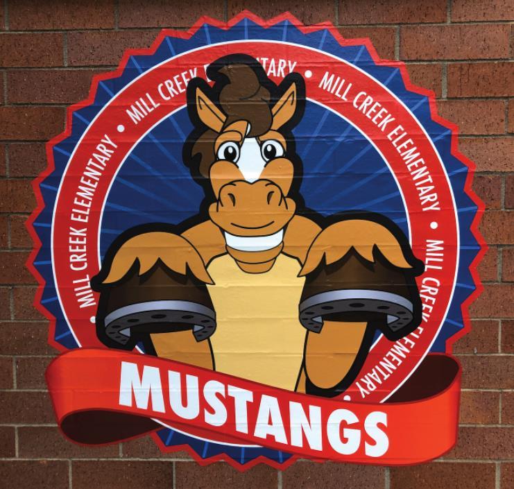 Brick Sticker School Logo