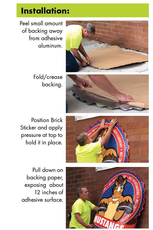 Brick Sticker Installation