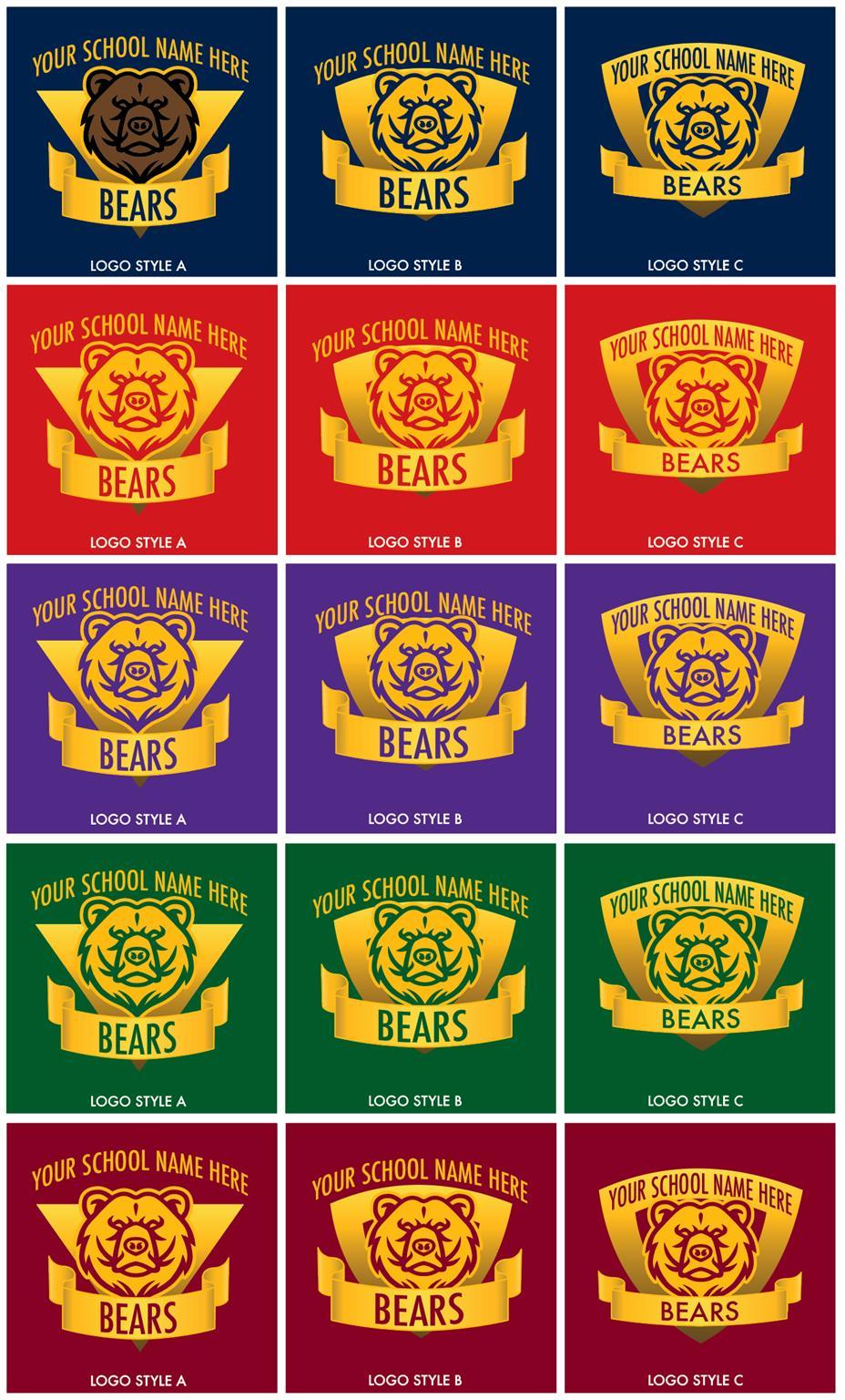 Bear Mascot Logo Graphic