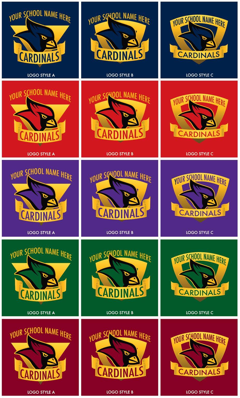 Cardinal Mascot Logo Graphic