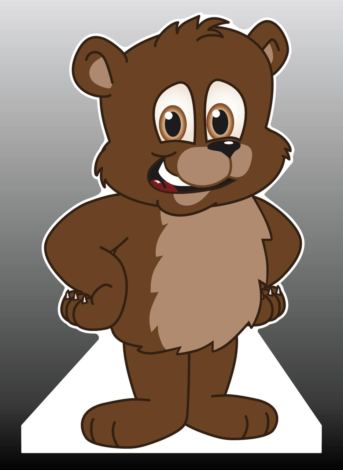 Brown Bear Cub Standee