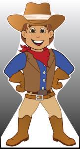 Cowboy Standee
