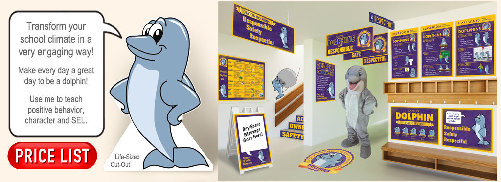 Dolphin Mascot Posters Banners