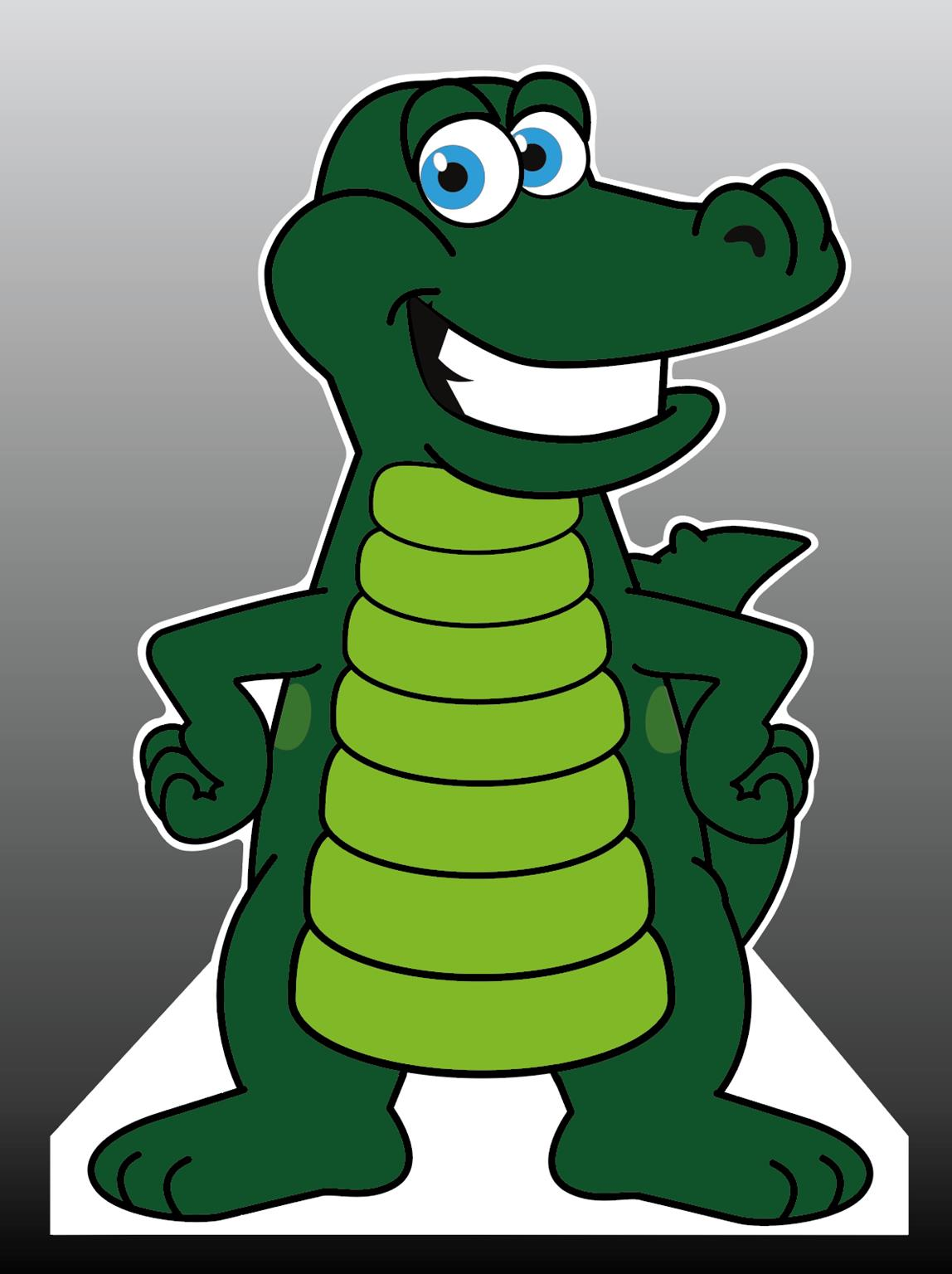 Gator Mascot Cut-Out Standee Life-Size