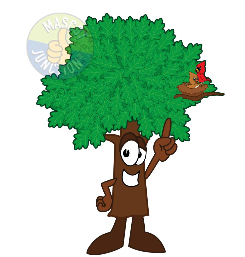 Oak Tree Mascot