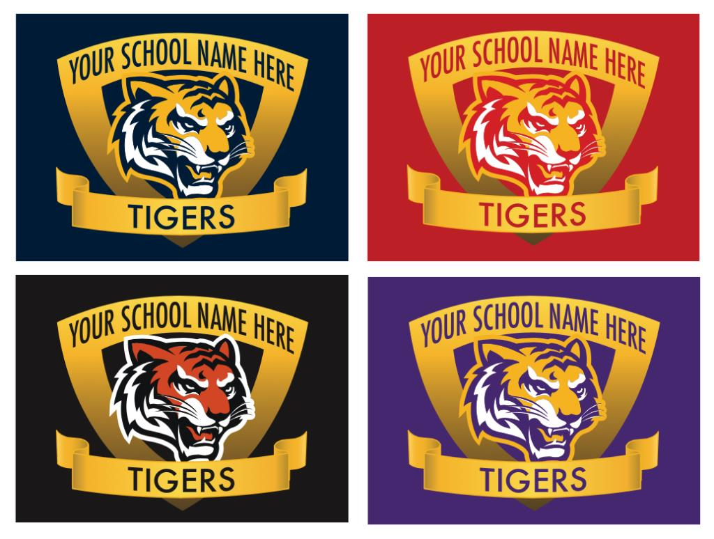 Tiger Mascot Logo Graphic