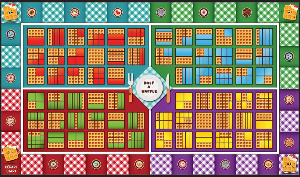 Waffle Fraction Game Mat