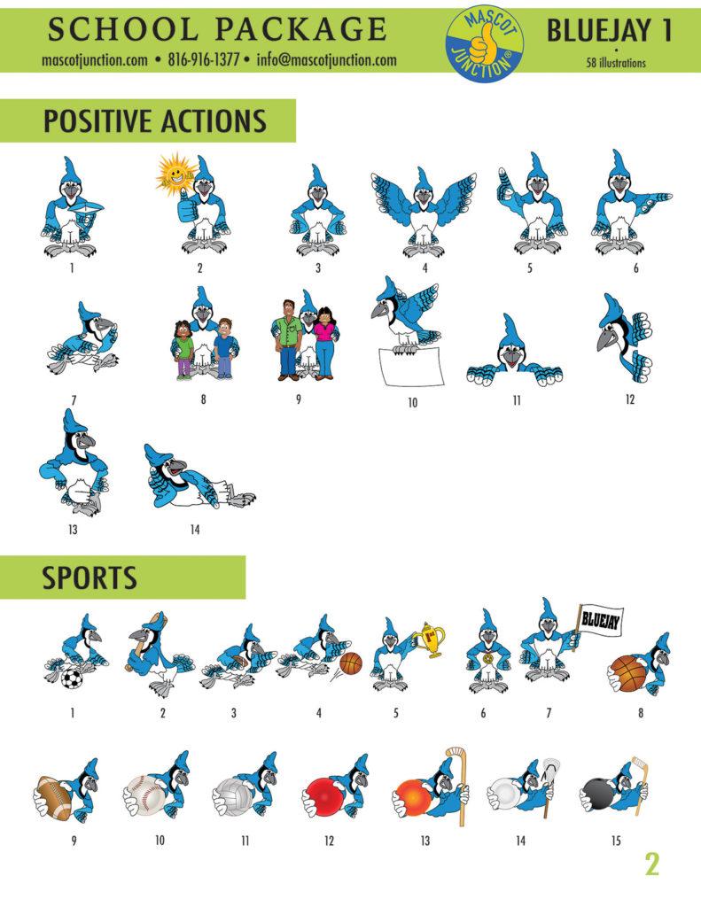 Blue Jay 1 Mascot Clip Art School 2