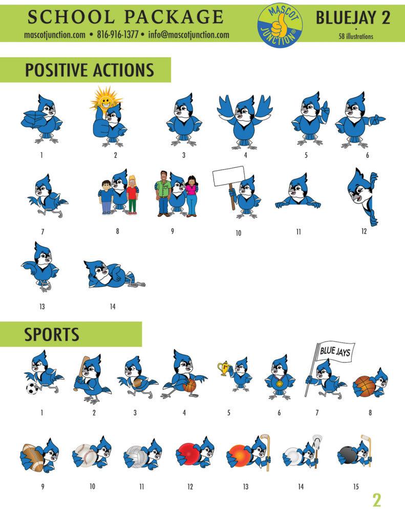 Blue Jay 2 Mascot Clip Art School 2