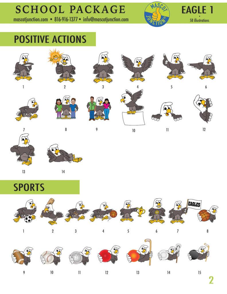 Cartoon Eagle School Mascot Clip Art | School mascot, School murals,  Classroom mascot