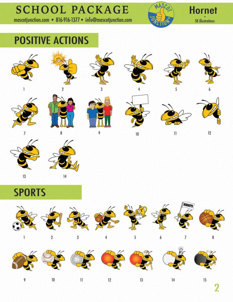 Hornet Mascot Clip Art School 2