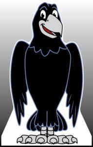 Raven Standee