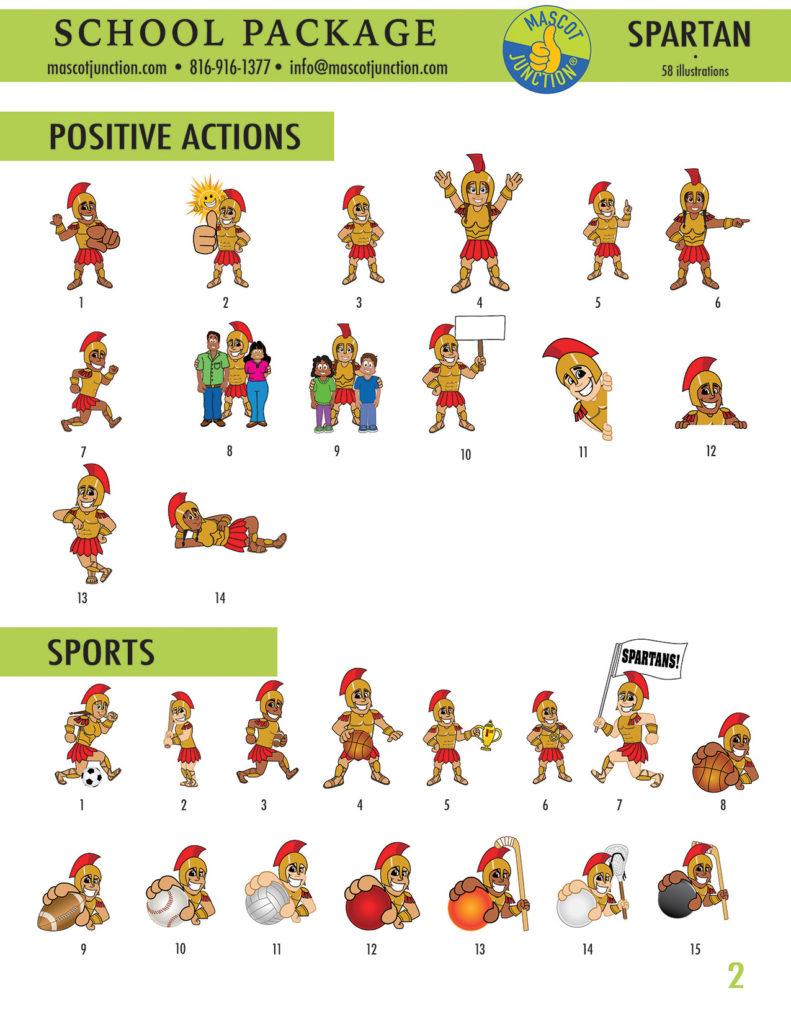 Spartan Mascot Clip Art School 2