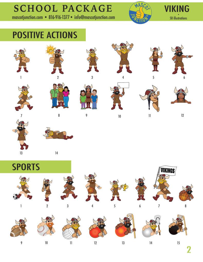 Viking Mascot Clip Art School 2