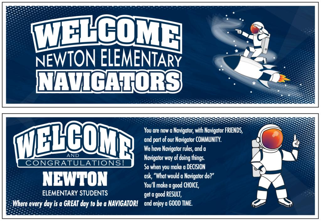 Welcome Banners Astronaut