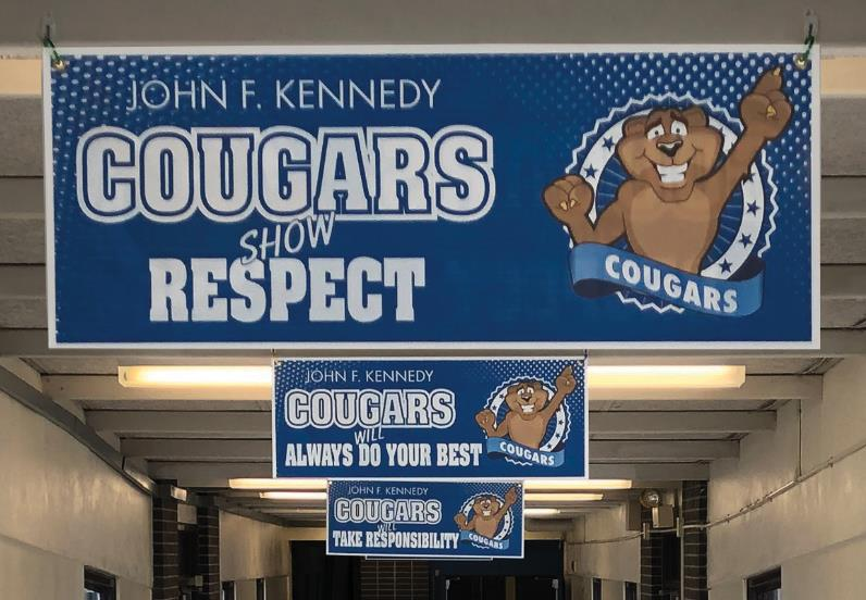 Cougar Ceiling Signs Banners