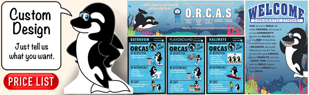 Orca Mascot PBIS Posters