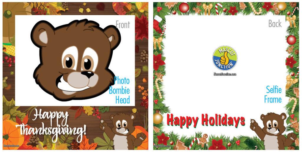 Selfie Frames Brown Bear Cub