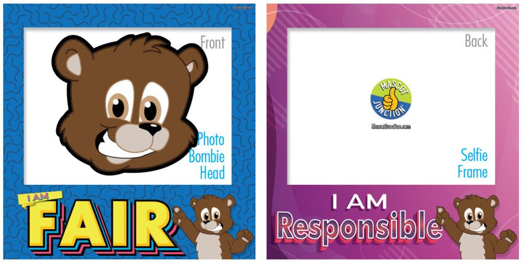 Selfie Frames_Character_Brown Bear Cub