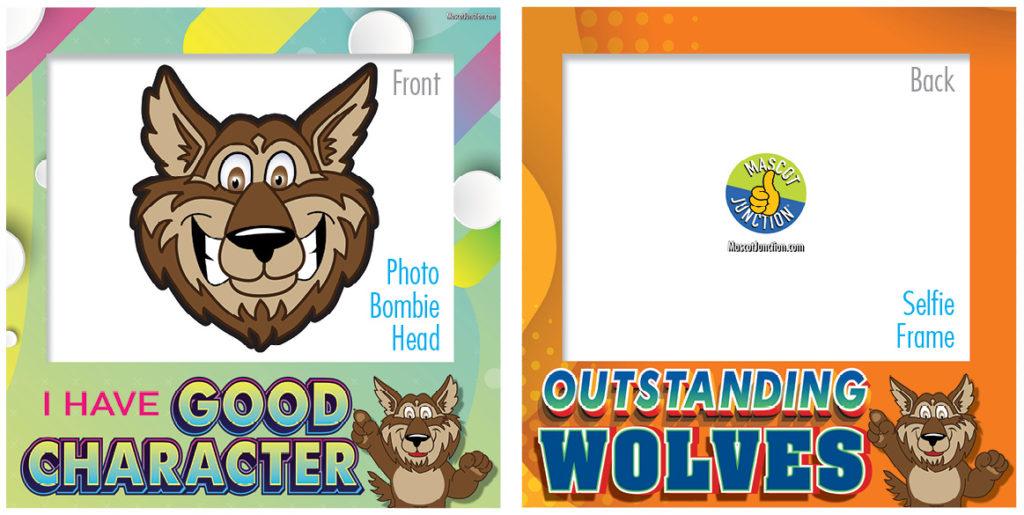 Selfie Frames_Character_Wolf-Brown