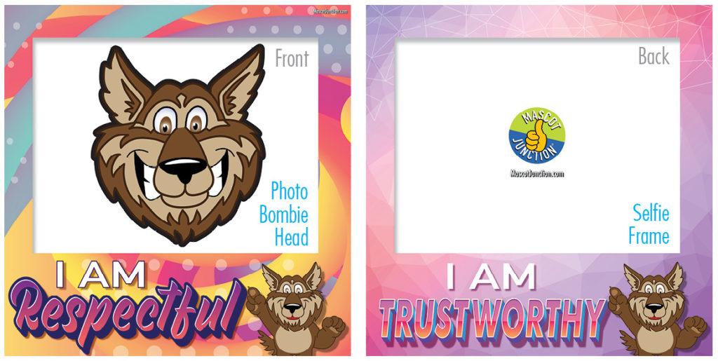Selfie Frames_Character_Wolf-Brown2