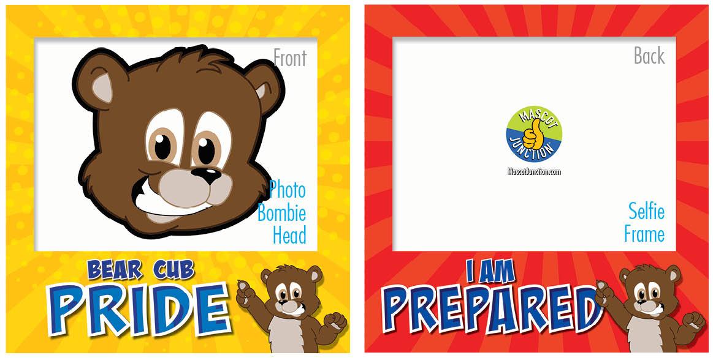 PBIS Selfie Frames Brown Bear Cubs