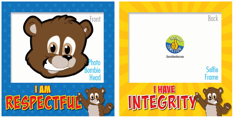 PBIS Selfie Frames Brown Bear Cubs2