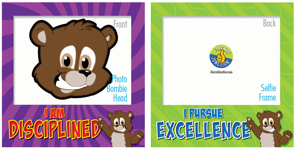 PBIS Selfie Frames Brown Bear Cubs3