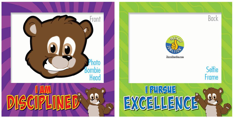 PBIS Selfie Frames Brown Bear Cubs3