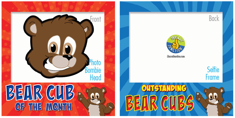 PBIS Selfie Frames Brown Bear Cubs4