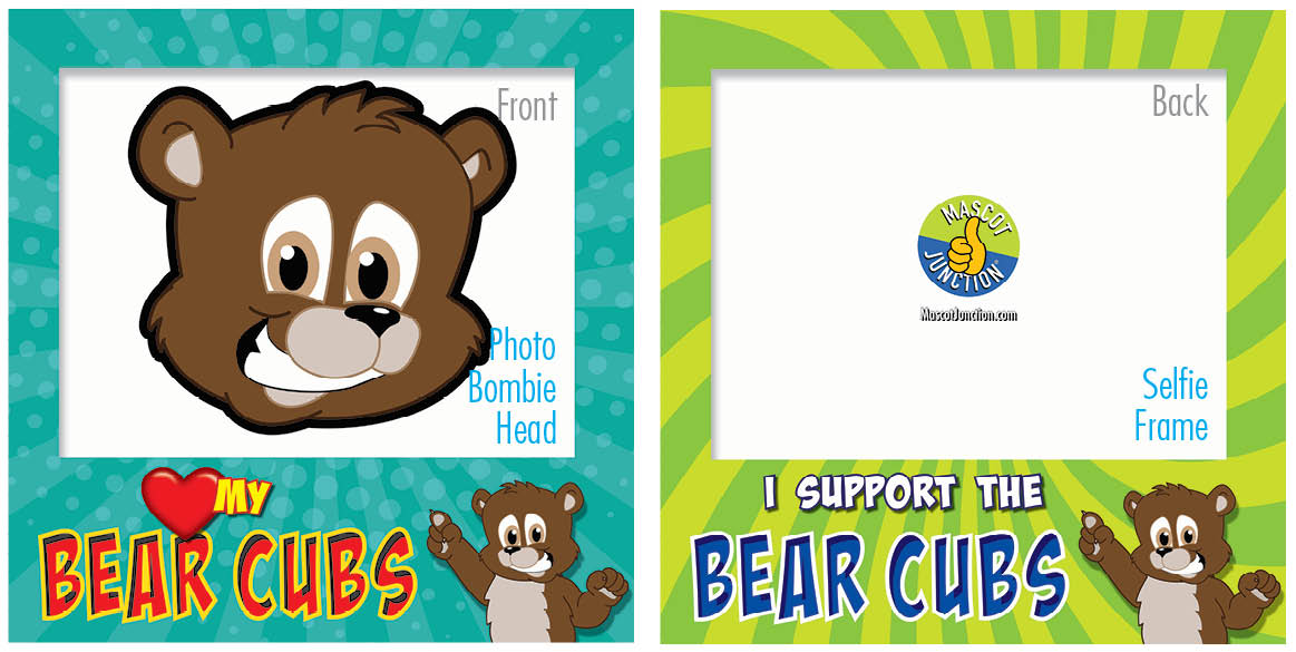 PBIS Selfie Frames Brown Bear Cubs5