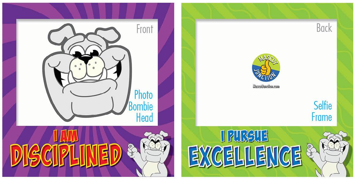 PBIS Selfie Frames Bulldog
