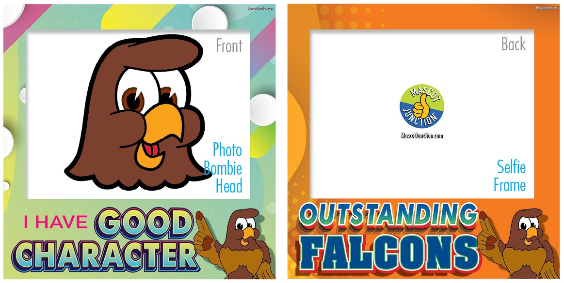 Selfie Frames_Character_Falcon1-Brown